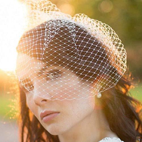 Mayelia - Velo de novia para jaula de pájaros, color blanco