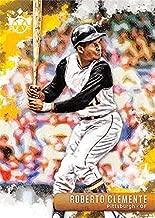 Roberto Clemente baseball card (Pittsburgh Pirates Hall of Famer) 2018 Donruss Diamond Kings #5