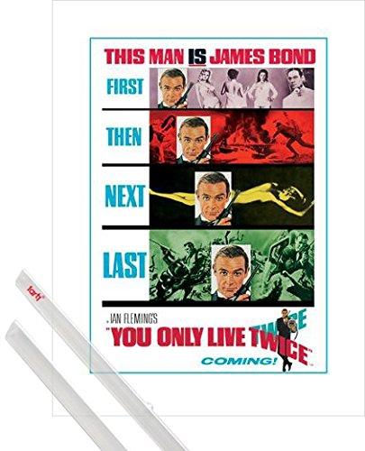 1art1 James Bond 007 Kunstdruck (80x60 cm) Man lebt Nur Zweimal, Sean Connery Inklusive Ein Paar Posterleisten, Transparent