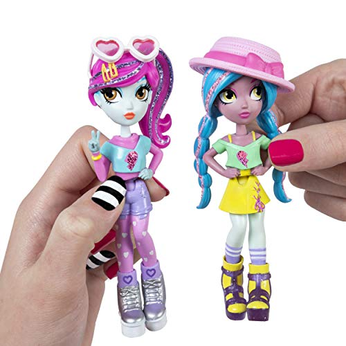 Off the Hook Style BFFs, Vivian & Mila (Summer Vacay), 4-inch Small Dolls with Mix and Match Fashions and Accessories, for Girls Aged 5 and Up