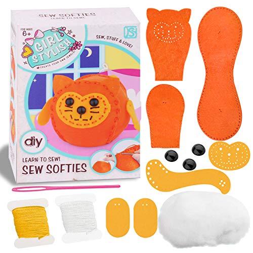 Sewing Kit for Kids - Craft Kits for Girls Boys Learn to Basic Sewing, Beginners Art Kits - Mini Pet Owl (Mini Pet Cat)