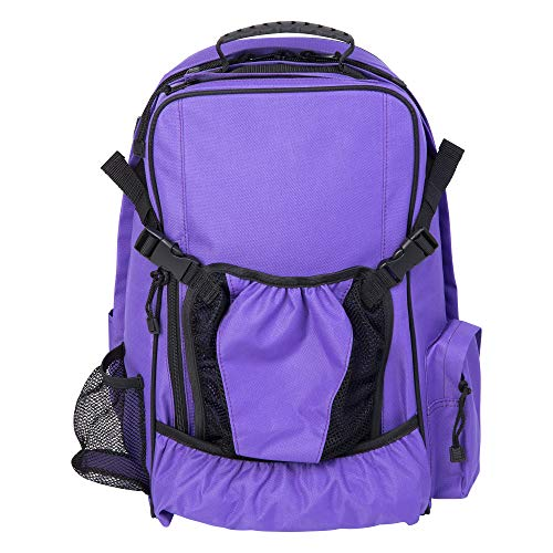 Huntley Equestrian Backpack, Purple, One Size
