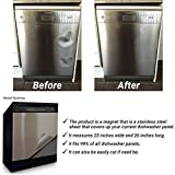 Stainless Steel Dishwasher Cover Decal - #1 Dishwasher Magnet Cover - Many Different Color's (Stainless Steel)