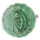 Indianshelf - Pomos de cristal redondos contemporáneos hechos a mano, 10 piezas, color verde menta, para cajones de aparador, estilo vintage, tiradores de gabinete de puerta en línea