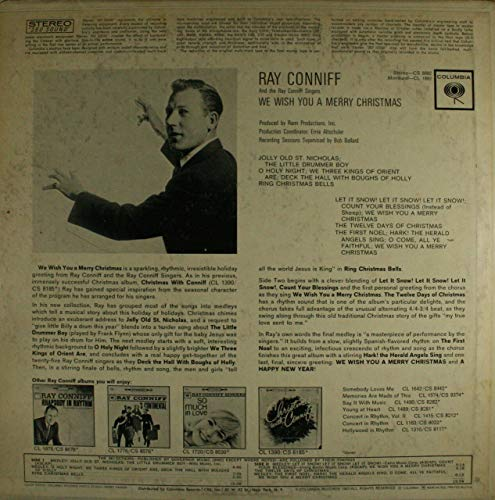 Ray Conniff & the Singers: We Wish You a Merry Christmas - LP Vinyl Record Album