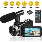 Videokamera Camcorder Full HD mit Mikrofon 1080P 30FPS 24MP Video
