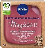 NIVEA MagicBAR Feste Gesichtsreinigung Make-Up Entferner (75g), fester Gesichtsreiniger für Gesicht, Augen & Lippen, zertifizierte Naturkosmetik mit Schwarzer Tee Extrakt