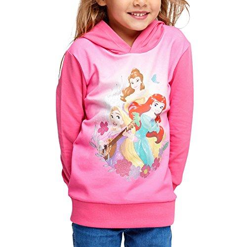 Disney Princess Kinder T-Shirt Kapuzen Pullover Motivauswahl Baumwolle, Princess Hoodie, 110