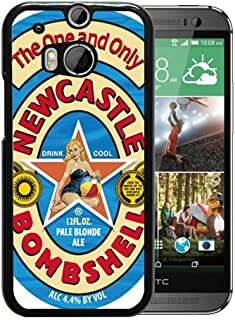 HTC ONE M8 Case,Newcastle Bombshell Pale Blonde Ale Black Shell Case for HTC ONE M8,Luxury Look