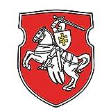 Belarus Pagonya FlagEnamel Pin - Belarus Pagonya Flag 1991 Brooch - White Knight Pagonya Brosch Badge - White Red White Belarus Flag Badge Brooch - Pagonya Emblem pin- Made in USA