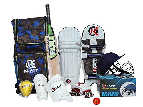 Klapp Advance Men's English Willow Series Cricket Kit (Multicolour)