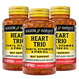 Mason Natural Vitamin, Co Q-10, Vitamin E and Fish Oil, 60 Softgels, 3 Count