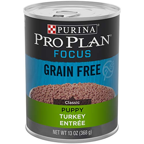 Purina Pro Plan Grain Free, High Protein Wet Puppy Food, FOCUS Classic Turkey Entree - (12) 13 oz. Cans