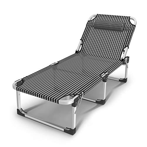 UCYG Cama Canapé Abatible Plegable para Invitados,Armadura De Metal Butaca Sofa con Colchón 1 Plazas para Camping Piscina Jardín, 200 Kg De Carga, 190x63x35cm (Color : 2)