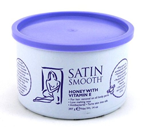 Satin Smooth Wax Honey With Vitamin-E 14oz Jar by Satin Smooth