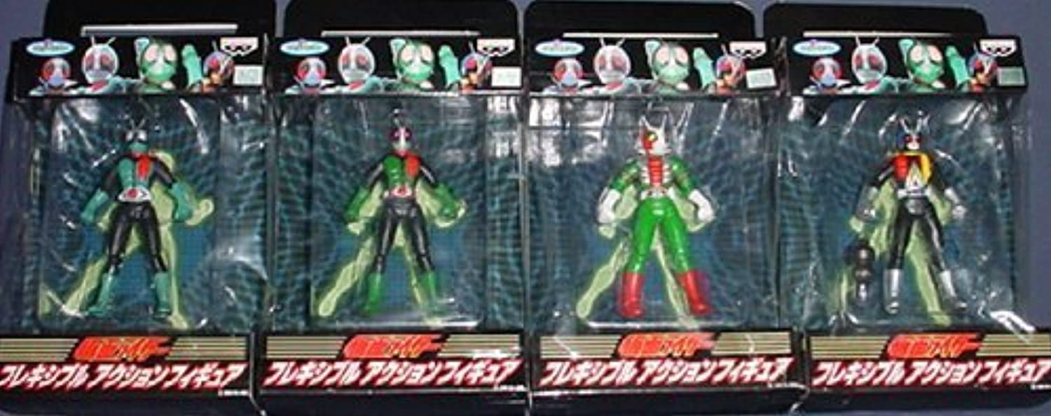All four flexible Rider Action Figure (Japan import   The package and the manual are written in Japanese)