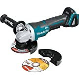 "Makita XAG11Z 18V LXT Lithium-Ion Brushless Cordless 4-1/2""/ 5' Paddle Switch Cut-Off/Angle Grinder, with Electric Brake, Tool Only"