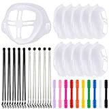 3D Face Covering Bracket, Adjustable Face Covering Lanyard Strap, Reusable Face Covering Hook Ear Protector Holder, Washable Silicone Inner Support Frame