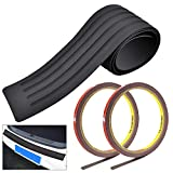 GOLRISEN Car Rear Bumper Protector,Universal Rubber Rear Guard Bumper Protector with 2 Rolls of Free Double-Sided Tape,Black Anti-scratch Trim Cover for Car Pickup SUV Truck(35.8x2.75inch)