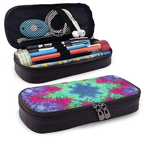 XCNGG Kosmetiktasche mit Federmäppchen Tie Dyes Pattern Pencil Case Big Capacity Pen Case Desk Organizer with Zipper - 8x3.5x1.5 Inches