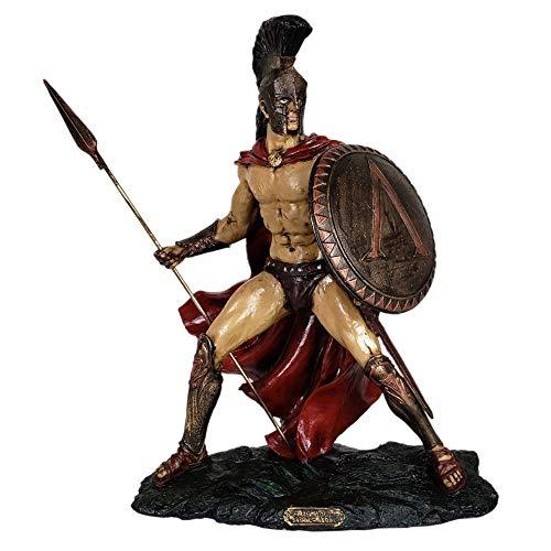 Escultura Rei Leônidas de Esparta decorativa.