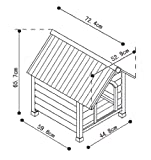 Nobby Holz-Hundehütte mit Satteldach 72,5 x 52,5 x 69 cm Größe M - 2