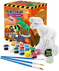 1. Original Stationery Paint Your Own Dinosaur Piggy Bank Craft Kit