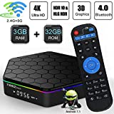 T95Z Plus Android 7.1 TV Box 3GB RAM/ 32GB ROM, Amlogic S912 Octa-Core 64 Bits Processor, Streaming Media Player 2.4GHz/5GHz WiFi, 1000M Ethernet LAN, UHD 4k Bluetooth 4.0
