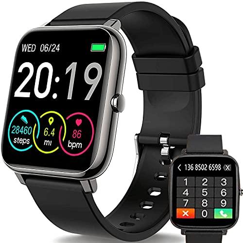 FANYA Smart Watch, Reloj Inteligente con Oxígeno Sanguíneo Presión Arterial Frecuencia Cardíaca Monitor de Sueño, Podómetro Pulsera Actividad Smartwatch Hombre Mujer Reloj Deportivo para Android iOS