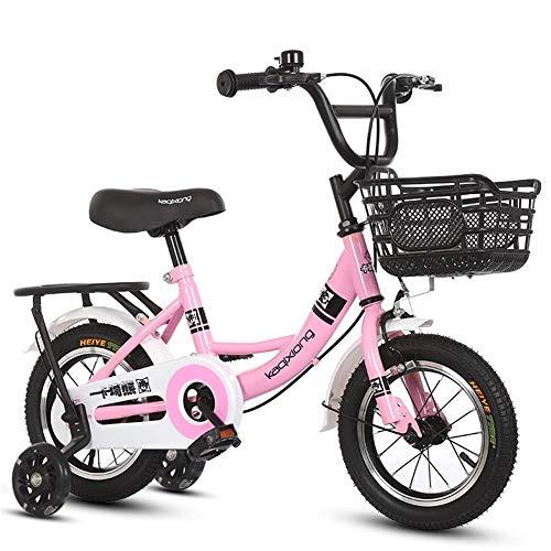 LJHSS Bicicletas For Niños 12/14/16/18 Pulgadas Bicicletas For Niños Las Bicicletas For Niños Y Niñas Son Adecuadas For Niños De 2 A 11 Años (Color : 2, Size : 18in)