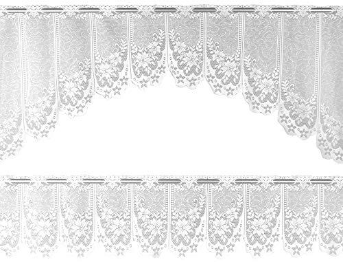 Arsvita Bistrogardinen-Set 2-teilig 160x30 cm und 160x60 cm (BxL) - Design: Doris