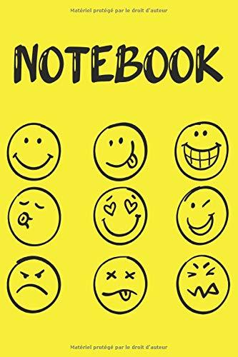 Notebook: Carnet de notes emoji/emoticone - Smiley - Cahier de notes pour écrire toutes vos émotions, vos pensées et vos idées | Format 6x9 pouces | Cadeau drôle à offrir pour toutes occasions
