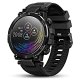 GOKOO Smart Watch for Men Fitness Tracker Watches with Heart Rate Blood Pressure Sleep Monitor Smartwatch for Phones Breathing Train IP68 Waterproof Sport Bluetooth Watch Camera Music Control Black