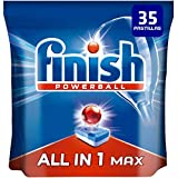Finish Powerball All in 1 Max - Pastillas para el lavavajillas todo en 1 - 35 pastillas