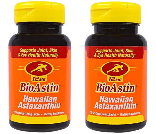Nutrex Hawaii, BioAstin, Hawaiianisches Astaxanthin 12mg Depot, alle 2 Tage eine Kapsel, 2 mal 50 Kapseln