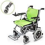SJAPEX Elektro-Rollstuhl E-Rollstuhl Leicht Klapprollstuhl Elektrisch Zusammenklappbar Vollautomatischer Rollstuhl Faltbar, Elektrorollstuhl Li-ion-akku,ältere und Behinderte Menschen