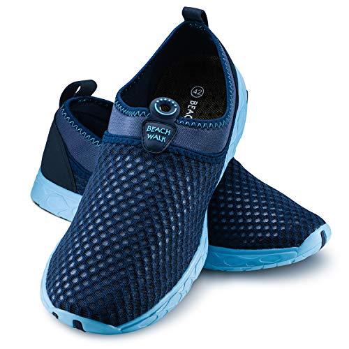 Ultrapower Tauchschuhe Herren | Wasserschuhe für Männer | geschlossene Aquaschuhe Outdoor I Neopren UV Wassersportschuhe | Surfen Schuhe I Tauchen I Surfen I Gr. 46/UK 11.5,D.Blau/Hellblau