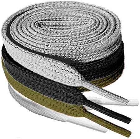 4 Pair Super Quality Flat Shoe laces 5 16 Wide Shoelaces for Athletic Tennis Running Sneakers product image