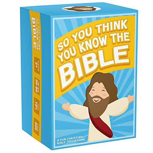 So You Think You Know The Bible - A Fun Bible Trivia Game for Families, Fellowships and Bible Study - A Great Christian Gift