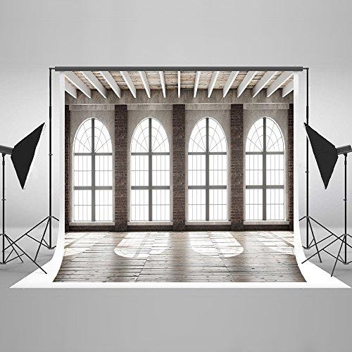 KateHome PHOTOSTUDIOS 3x3m Innenraum Foto Hintergrund Fenster Hintergrund Hochzeit Foto Hintergrund Holz Porträt Mikrofaser Hintergründe für Fotostudios