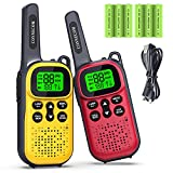 Toys for 3-15 Year Old Boys Girls, CONNECOM Rechargeable Walkie Talkies for Kids 22 Channels 2 Way Radio Toy, Best Gifts for Boys and Girls to Outdoor, Camping, Hiking, Adventure Game