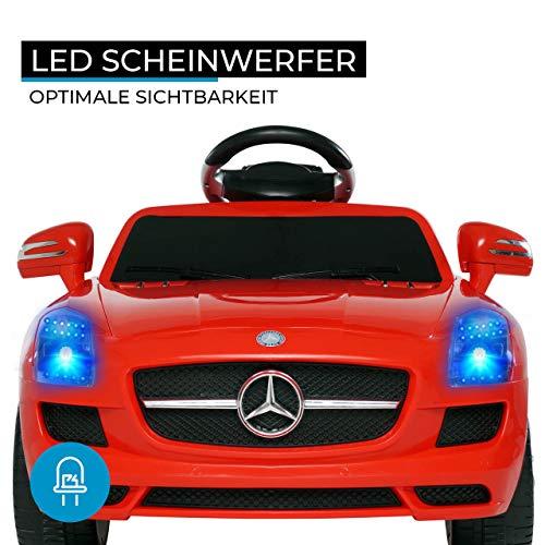 RC Auto kaufen Kinderauto Bild 3: Kinder Elektroauto Mercedes Lizenziert SLS AMG Original Lizenz Kinderauto Kinderfahrzeug Elektro Spielzeug für Kinder (Rot)*