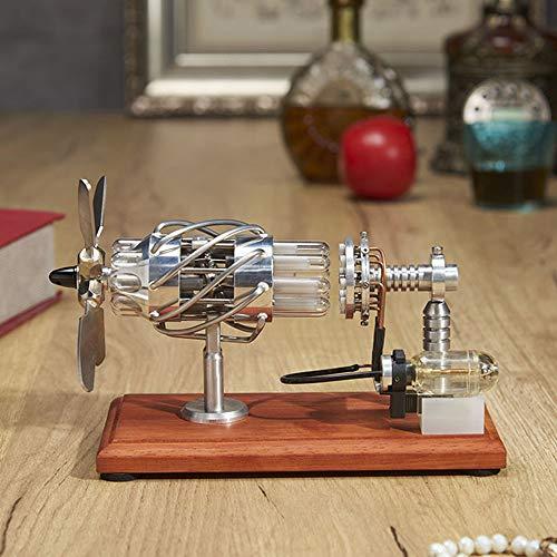 N \ A Motor Stirling Motor Motor de Juguete Motor de 16 Cilindros Motor Stirling de Aire Caliente Cultivar interés para Decoraciones de Oficina, Regalos