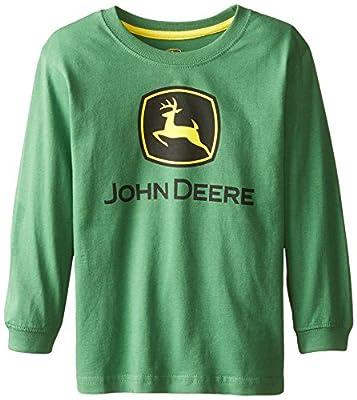 John Deere Little Boys Long Sleeve Logo Tee, Green, 7