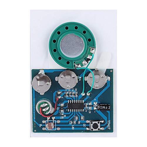 Zerone Módulo de grabación de voz 30s chip con 3 pilas de botón, nueva función de grabación de sonido para tarjetas de audio DIY regalo (fotosensible)
