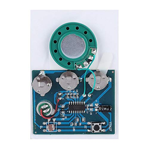 Zerone 30s Sprachaufzeichnung Modul Chip mit 3 Knopfzellen, Neu Aufnahme Funktion Tonaufnahme Modul für DIY Geschenk Audiokarten(Lichtempfindlich)