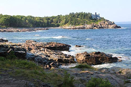 5D DIY Full Round Drill Diamond Painting, Schooner Head, Acadia National Park, Cross Stitch,Mosaic Frameless 40x50 cm