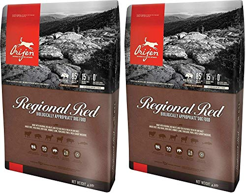 Orijen (2 Pack) Regional Red Dry Dog Food. 4.5 Lbs. Per Bag