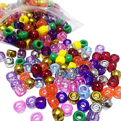 250 perline per capelli per trecce, pony, braccialetto per artigianato, perline per la creazione di gioielli per bambini, perline per bambini, perline per trecce, perline per capelli