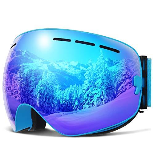 COPOZZ Gafas de esquí polarizadas G1 OTG, gafas de nieve, antideslumbramiento, con lente intercambiable, protección UV, compatible con casco, para hombres, mujeres, adolescentes